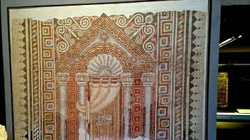 Mosaic of Temple Facade with Torah Ark