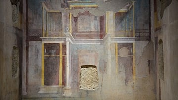 Second-style Pompeian Fresco