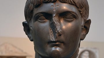 Bust of Germanicus mutilated by Christians