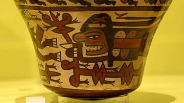 Nazca Vase with Warrior & Trophy Heads