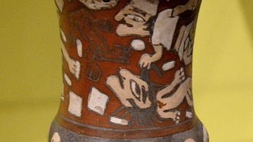 Nazca Vase with Decapitation Scene