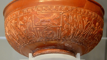 Bowl with Goddess Diana from Newstead
