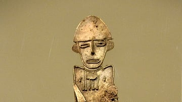 Tunjo, Female & Child Figure from Colombia