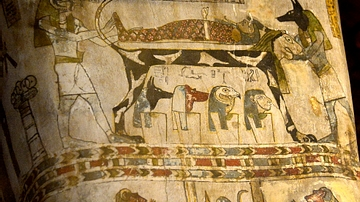 Detail of the Coffin of Diefiawet from Egypt