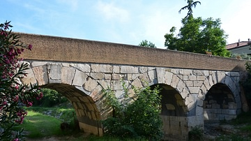 Roman Bridge over the Rubicon River