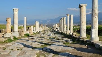 Colonnaded Street at Laodicea on the Lycus, Turkey