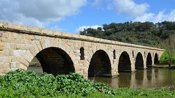 Roman Bridge, Ponte da Vila Formosa, Portugal