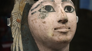 Egyptian Cartonnage Mummy Face
