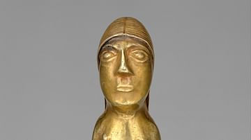 Inca Gold Female Figurine