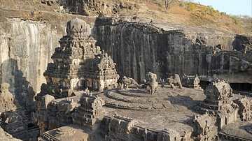 Roof of Kailasa Temple, Ellora
