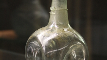 Roman Bulbous Glass Perfume Bottle