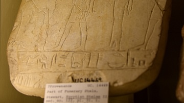 Part of a funerary stela