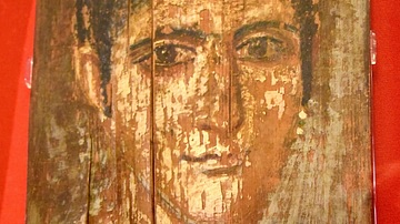 Wax Encaustic Mummy Portrait, Hawara