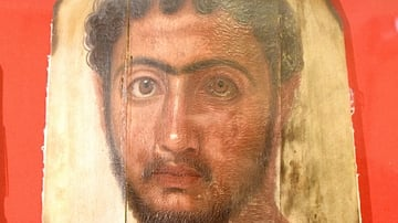 Encaustic Mummy Portrait, Hawara