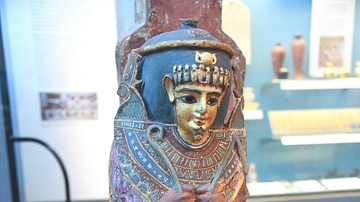 Painted & Gilded Mummy Case of an Infant