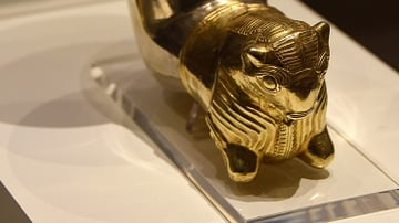 Achaemenid Silver and Gold Horn Cup