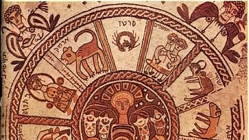 Zodiac Wheel Mosaic