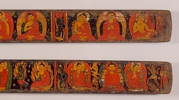 Illustrated Buddhist Manuscript Cover
