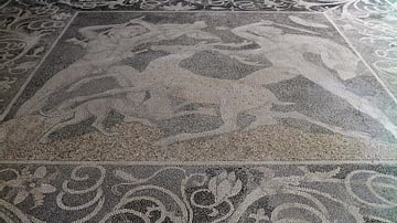 Stag Hunt Mosaic from Pella