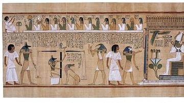 The Judgement of the Dead by Osiris