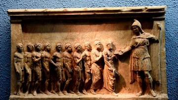 Votive Relief Dedicated to Artemis Bendis