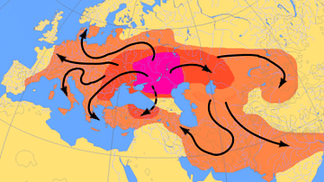 Map of Indo-Euopean Migrations