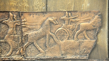 Royal Chariots in Battle, Balawat Gate
