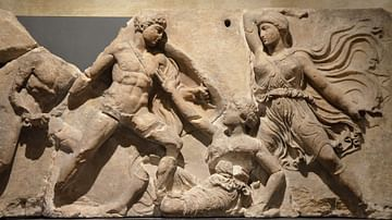 Greek & Amazons, Frieze from Bassae