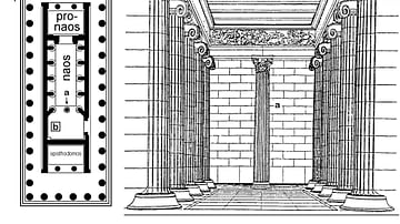 Plan, Temple of Apollo, Bassae