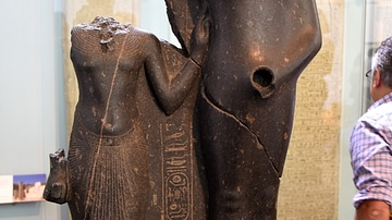 King Horemheb with Amun-Ra