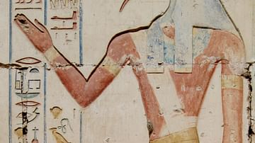 Thoth, Abydos Temple Relief