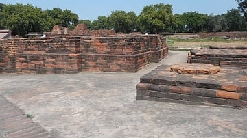 Remains of a Buddhist Monastery, Sarnath