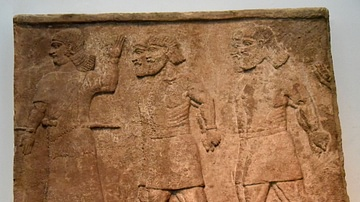 Review of Arab Prisoners, Assyrian Relief