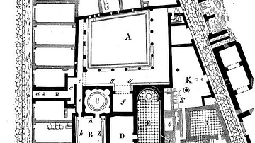 Plan of the Old Baths of Pompeii