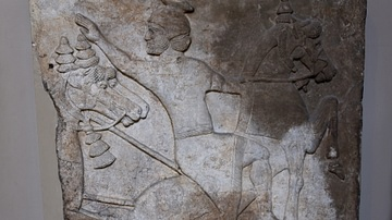 Surrender of Horseman, Assyrian Relief