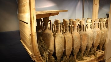 Amphorae Packed for Transportation