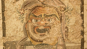 Theatre Mask Mosaic, Empuries