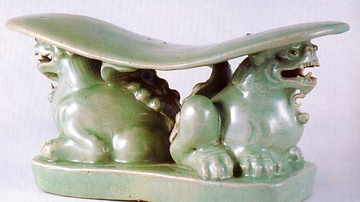 Celadon lion Pillow, Goryeo Dynasty
