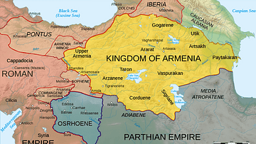 Map of Armenia, 50 CE