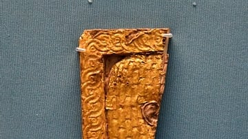 Nimrud Ivory Piece with Gold Overlay