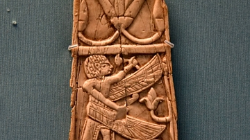 Nimrud Ivory Panel of a Winged Man