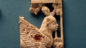 Nimrud Ivory of a Winged Sphinx