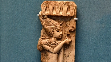 Nimrud Ivory Panel of an Egyptian king