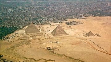The Pyramids of Giza, Aerial View