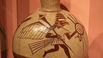 Moche Vessel Depicting Bird Warriors