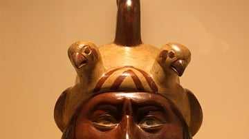 Portrait Vessel, Moche Culture