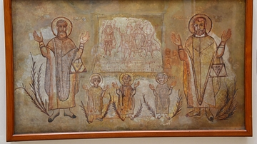 Wall-painting of Martyred Saints from Wadi Sarga