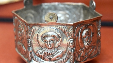 Hexagonal Censer from the Cyprus Treasure