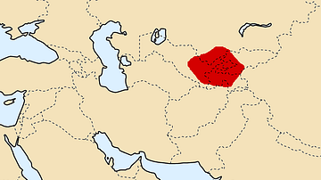 Map of Sogdiana, ca. 300 BCE