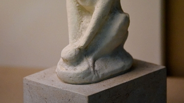 Cypriot Limestone Statuette of a Potter